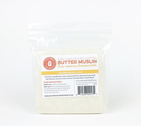 Butter Muslin for making fresh cheese and holding spices.