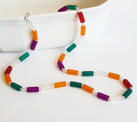 Frosty Color Necklace