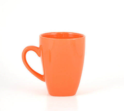 Orange Square Bottomed Mug