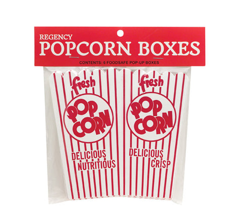 Popcorn Boxes Pack of 6