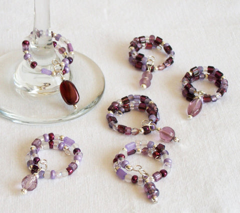 Purple Passion Beverage Ring Charms Collection