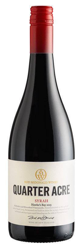 Quarter Acre Syrah 2013, BRAND CONNECT Asia Pacific