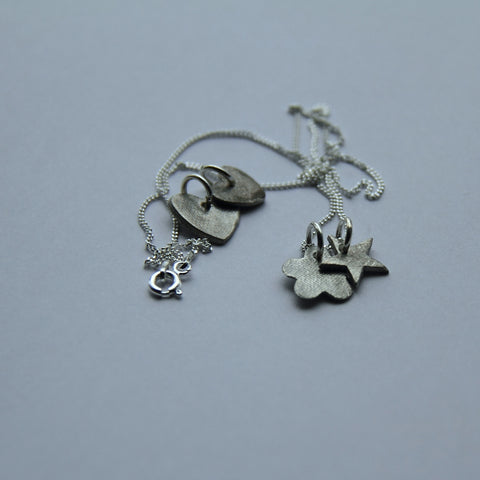 Heart and Flower Pendent