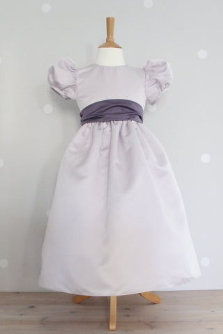 Waisted dress with Super Puff sleeve ex display Age 5-6