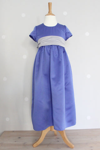 Empire Line Dress with straight sleeve ex display Age 7 - 8