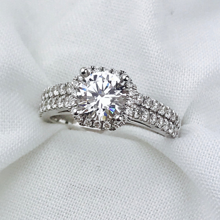 14K White Gold Sylvie .67ctw Diamond Engagement Ring