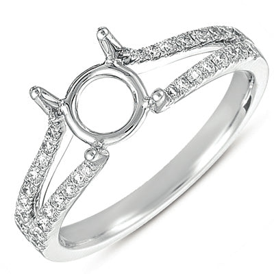 14K White Gold .31ctw Diamond Engagement Semi-Mount (80242)