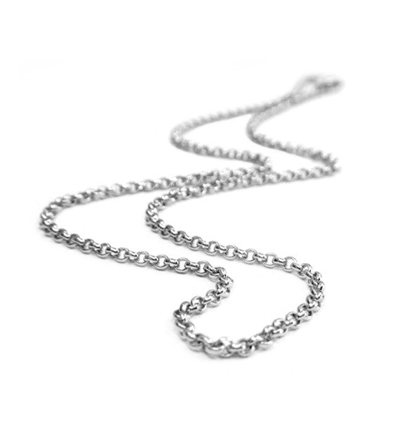 Belle e'toile Sterling Silver Thick Rolo Chain, 24