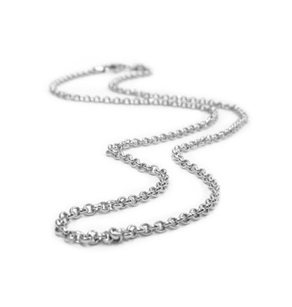 Belle e'toile Sterling Silver Thin Rolo Chain 18