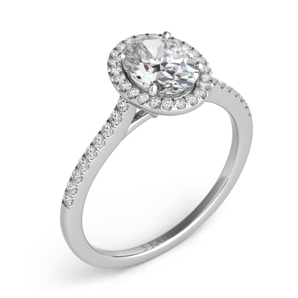 14K White Gold .20CTW Diamond Engagement Semi-Mount (82574)