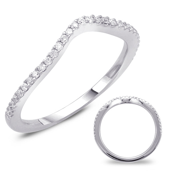 14K White Gold .15CTW Diamond Curved Engagement Band (82579)