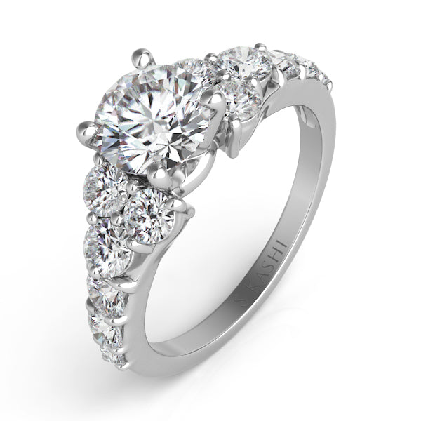 14K White Gold 1.0ctw Diamond Engagement Semi-Mount (82585)