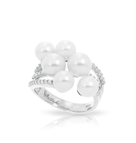 Belle e'toile White Seashell Pearl Ring, Size 7 (83074)