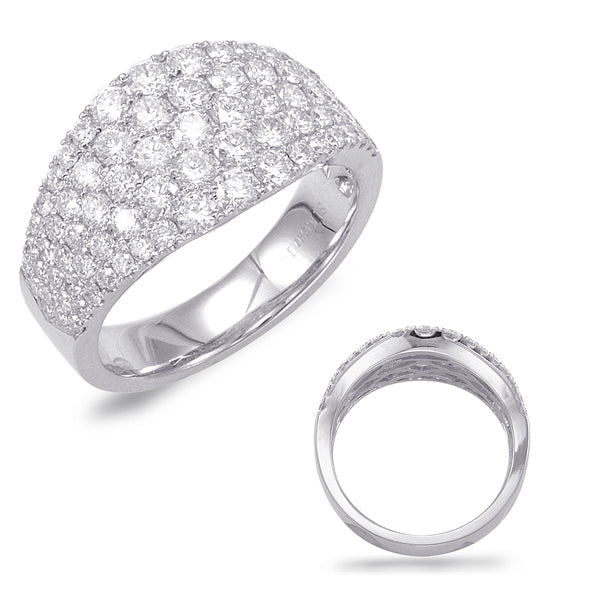 14K White Gold 1.70ctw Diamond Pave Band (87347)
