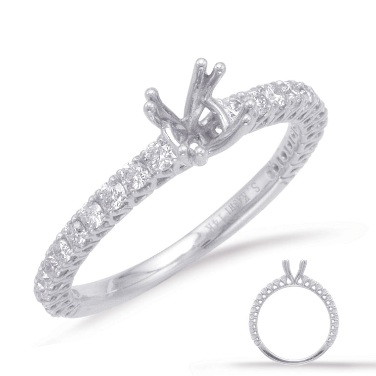 14K White Gold .40ctw Diamond Engagement Ring (87350)