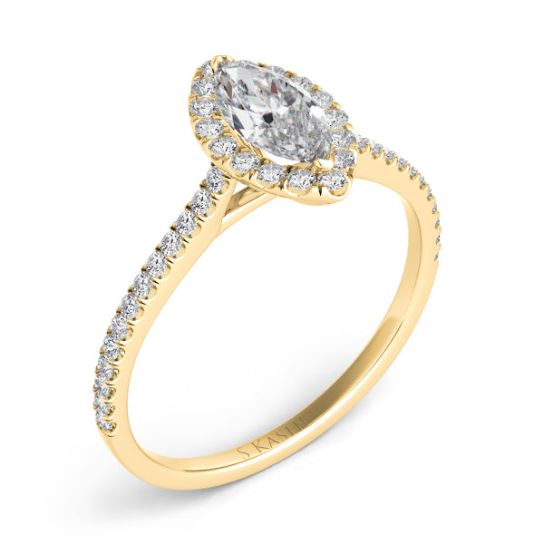 14K Yellow Gold .82ctw Diamond Engagement Ring (87355)