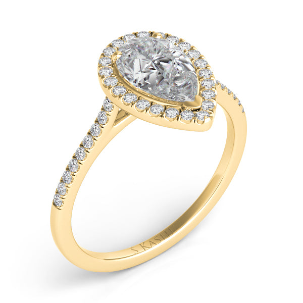 14K Yellow Gold .69ctw Diamond Engagement Ring (87356)