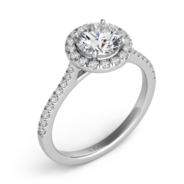 14K White Gold .23ctw Diamond Engagement Ring (87359)