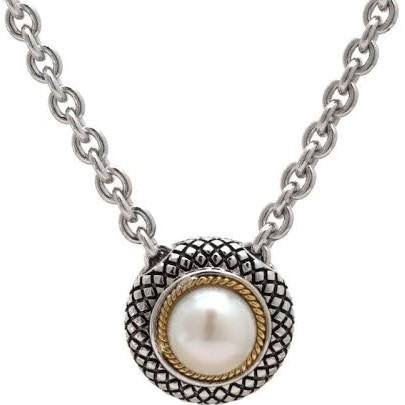 Andrea Candela 18K Gold and Sterling Silver Pearl Necklace (88584)