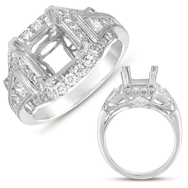 14K White Gold .78ctw Diamond Engagement Ring (88738)