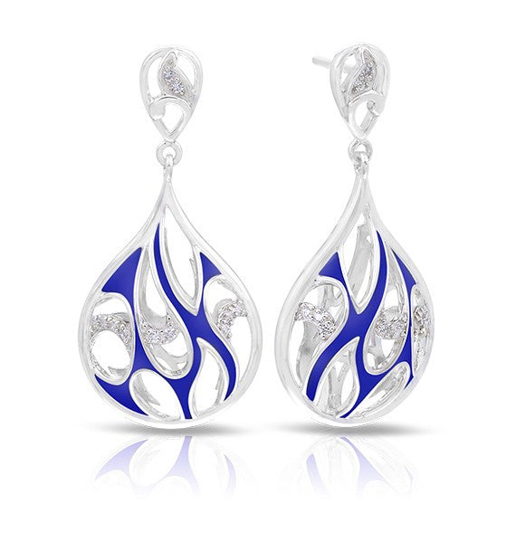 Belle e'toile Stelring Silver Marea Blue Earrings (89716)