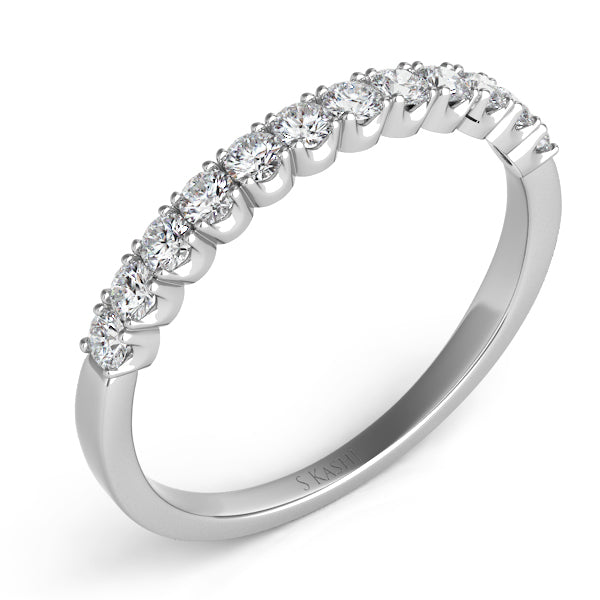 14K White Gold .42CTW Diamond Band (89872)