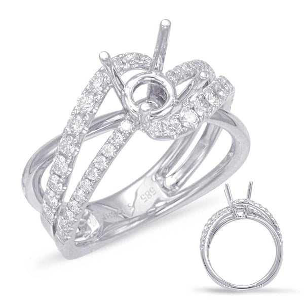 14K White Gold .55ctw Diamond Engagement Ring (89939)