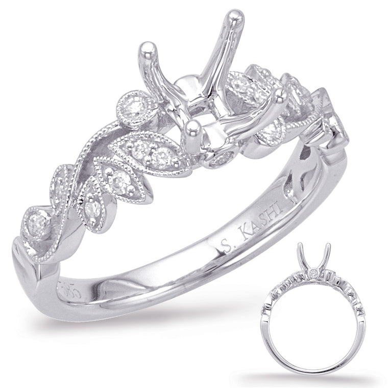 14K White Gold .15CTW Diamond Engagement Ring (90112)