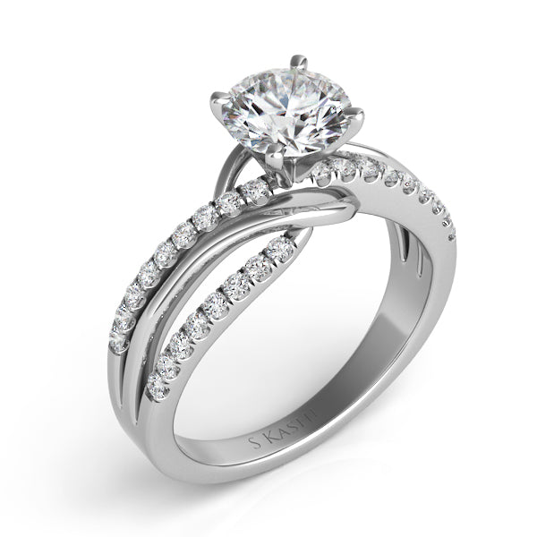 14K White Gold .32CTW Diamond Engagement Ring (90169)