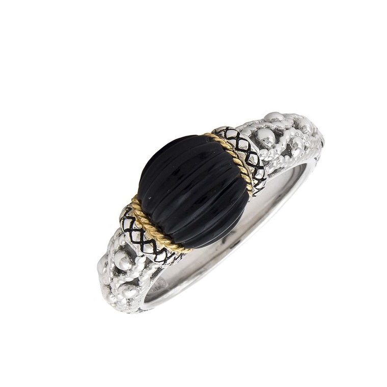 Andrea Candela Sterling Silver Black Onyx Ring (90903)