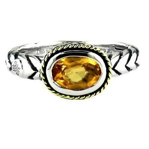 Andrea Candela Sterling Silver Oval Citrine Ring, Size 7 (91008)