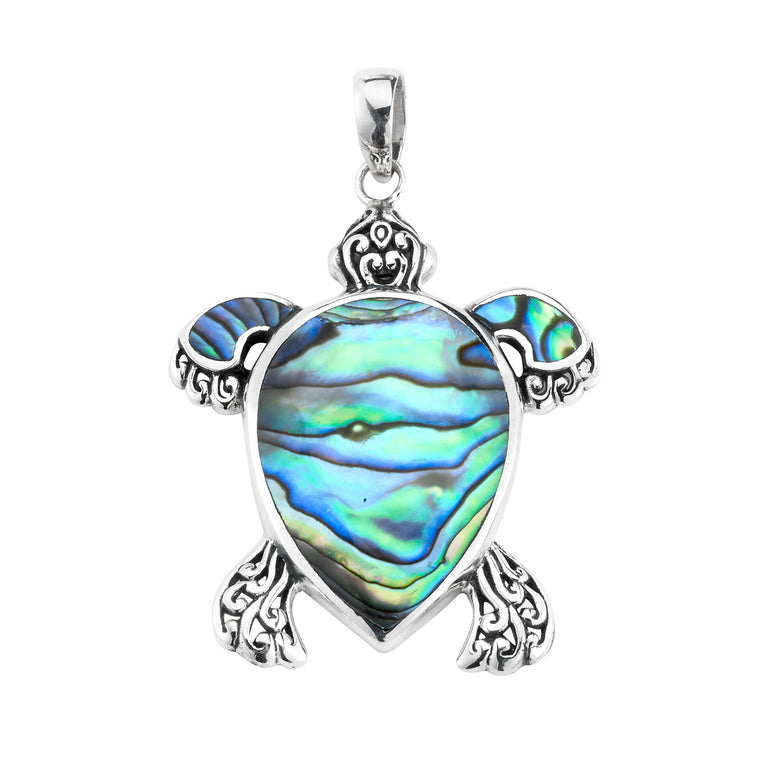 Samuel B. Sterling Silver Abalone Turtle Pendant (91450)