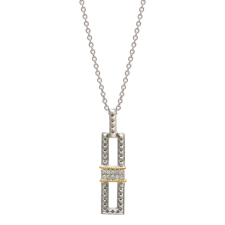 Andrea Candela 18k Yellow Gold and Sterling Silver Diamond Necklace (92039)