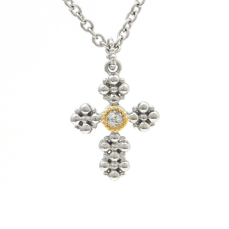 Andrea Candela 18k and Sterling Silver Diamond Necklace (92040)