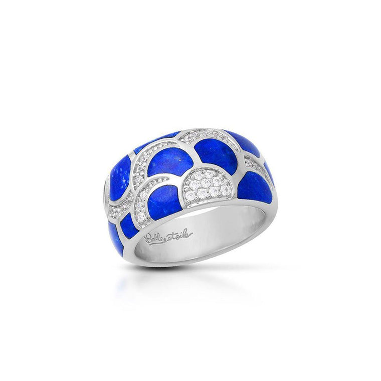 Belle e'toile Sterling Silver Adina Lapis Ring, Size 7 (91936)