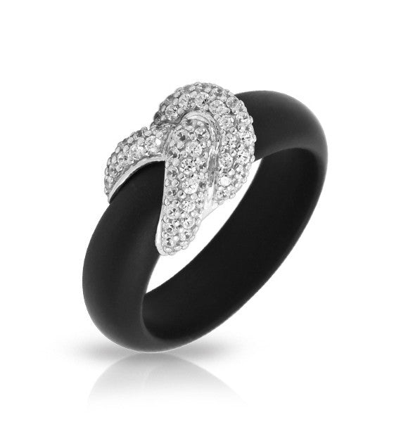 Belle e'toile Ariadne Black Ring, Size 7 (81271)