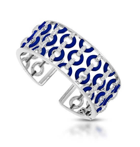 Belle e'toile Sterling Silver Bracelet Meridian Blue, Medium (82611)