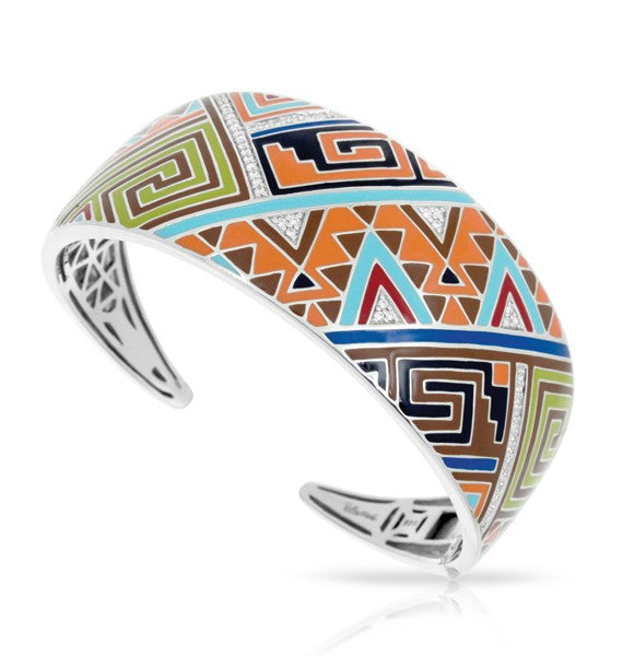Belle e'toile Sterling Silver Sedona Orange Bracelet, Small (89202)
