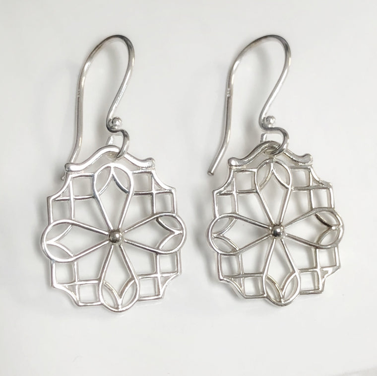 Southern Gates Biltmore Collection Sterling Silver Crossings Earrings (90895)