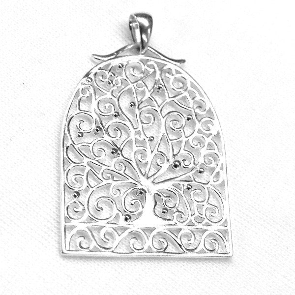 Southern Gates Sterling Silver Peacock Tree Pendant (82834)