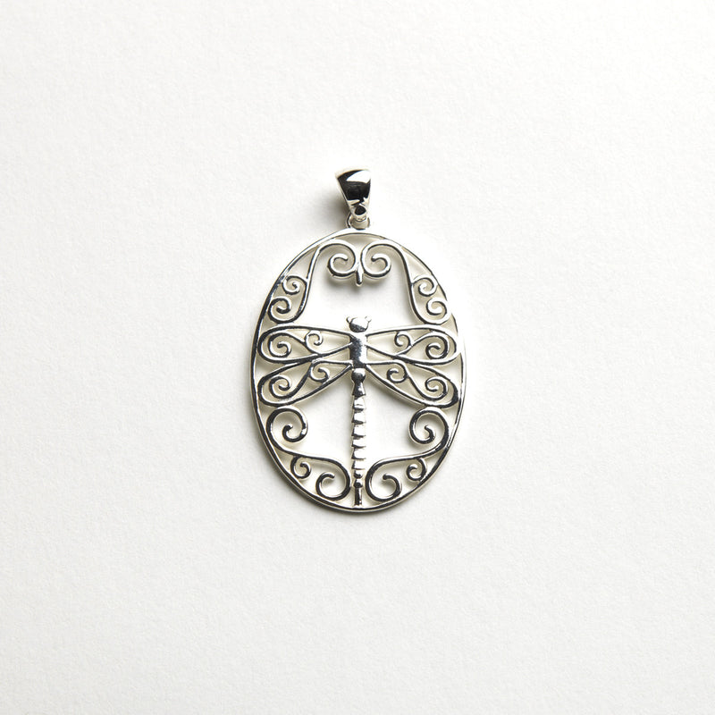 Southern Gates Dragonfly Scroll Pendant