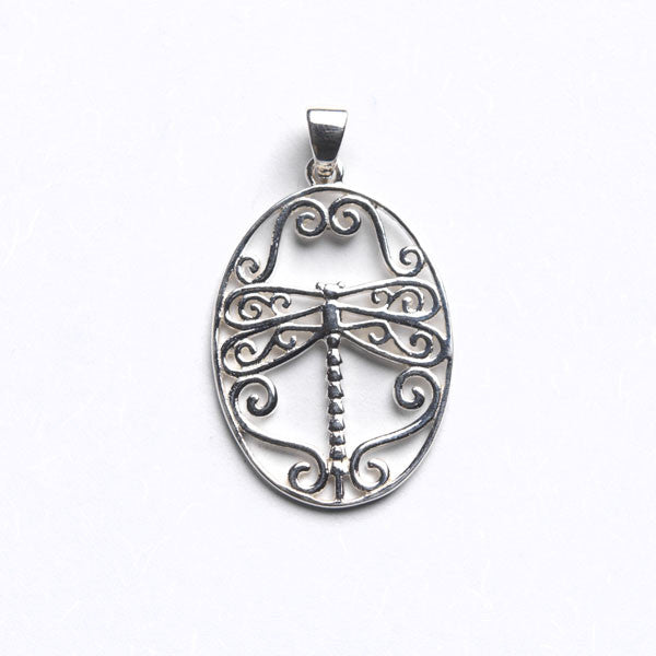 Southern Gates Small Dragonfly Scroll Pendant