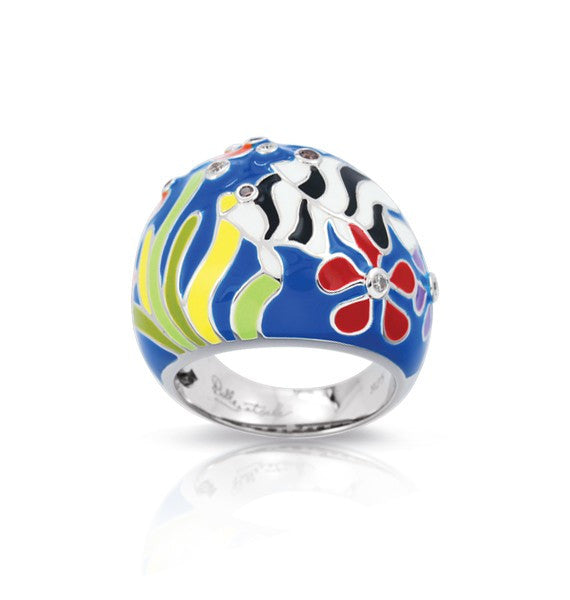 Belle e'toile Ring Angelfish Blue Size 7 (81288)