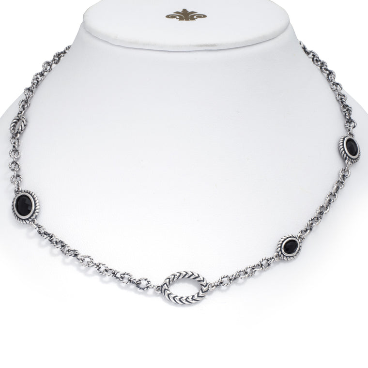 Andrea Candela Sterling Silver and Black Onyx 22