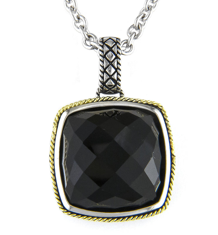 Andrea Candela 18K Gold and Sterling Silver Black Onyx Necklace (81630)