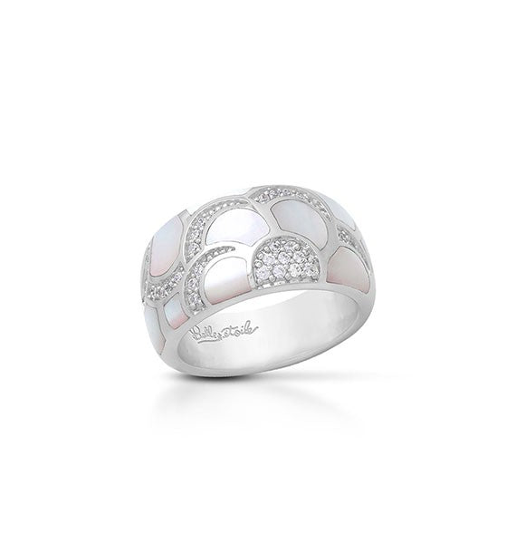 Belle e'toile Sterling Silver Adina White Ring, Size 7 (91827)