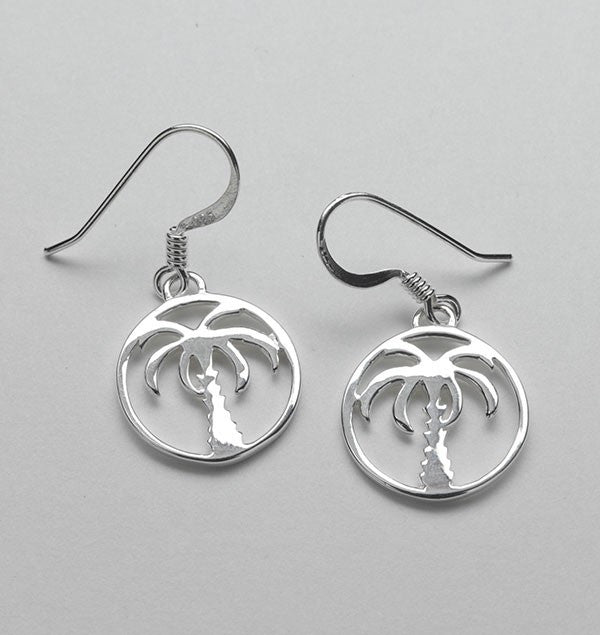 Southern Gates Small Palmetto Tree Earrings