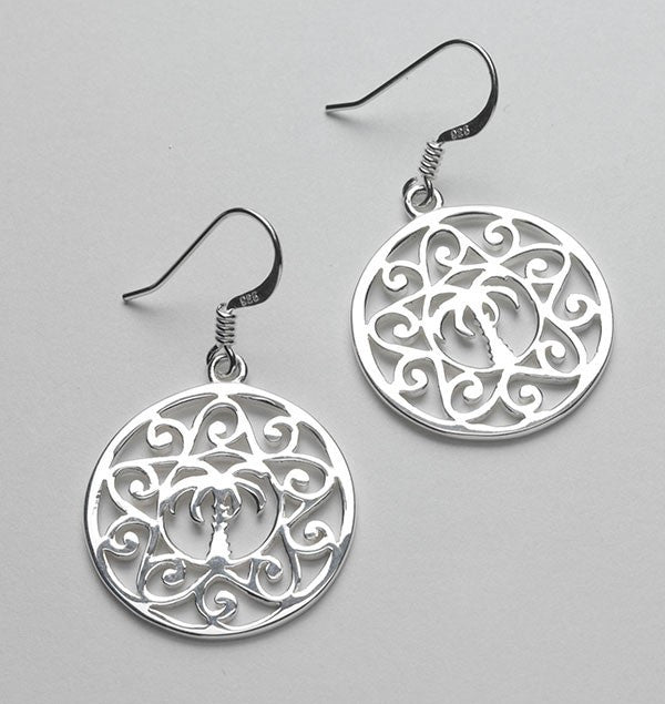 Southern Gates Palmetto Tree Scroll Earrings