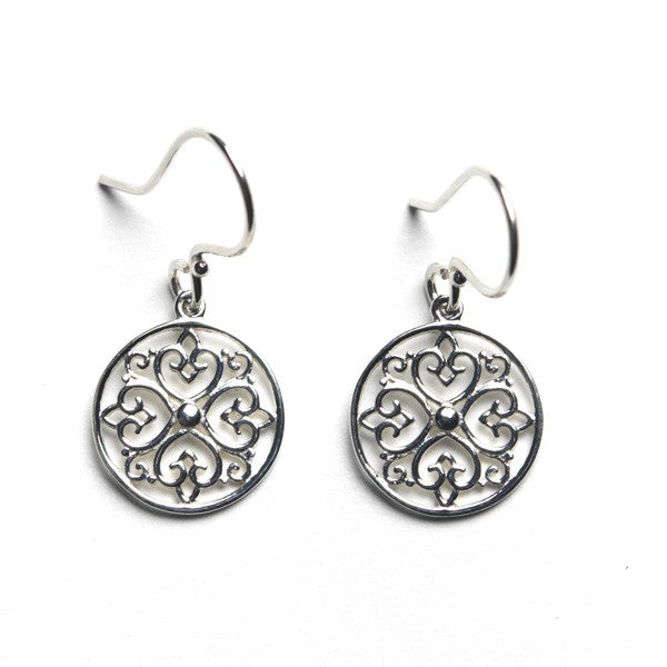 Southern Gates Sterling Silver Round Heart Design Earrings (89759)