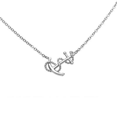 Sterling Silver Small Anchor With Link Chain